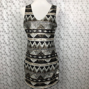ONE CLOTHING Los Angeles Sequins Dress  Sz M